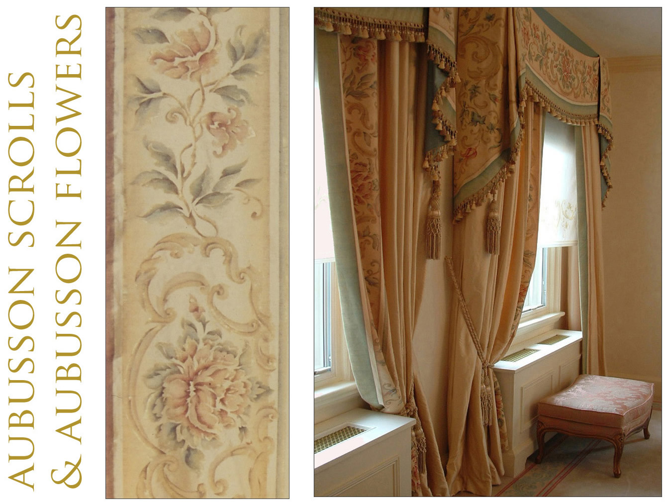 Bery designs hand painted fabrics aubusson - Www curtain design picture ...