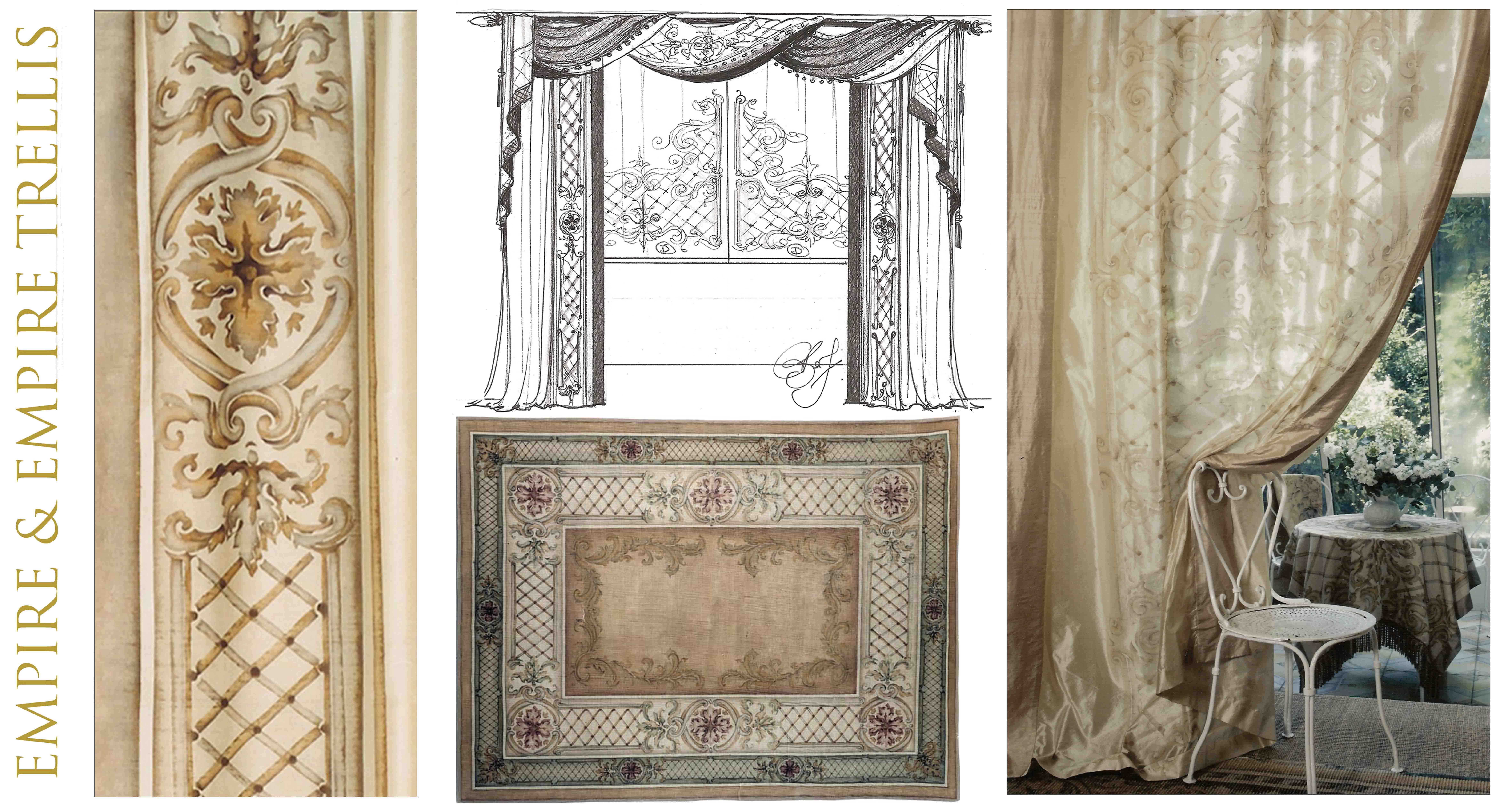 Bery designs hand painted fabrics empire - Www curtain design picture ...